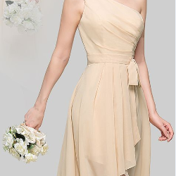 A-Line/Princess One-Shoulder Asymme..