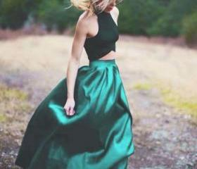Green Prom Dress,Two..