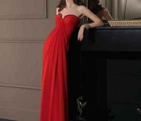 Long Red chiffon Pro..
