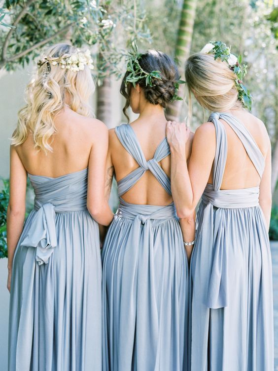 Special Light Blue Bridesmaid Dress Long 8 Diffe Ways For Wearing