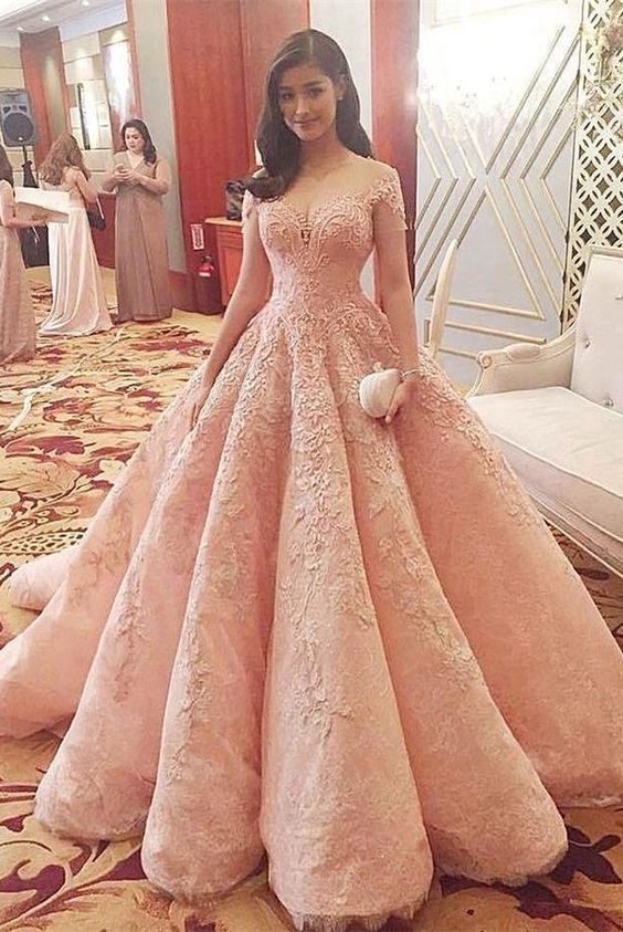 fc9478223b7 2018 Custom Made Pink Quinceanera Dress