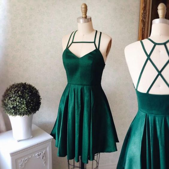 Green Short Dresses