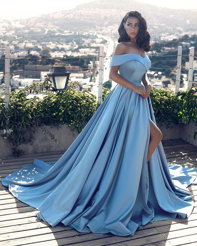 d83e9da1ff7 Light Blue Prom Dress