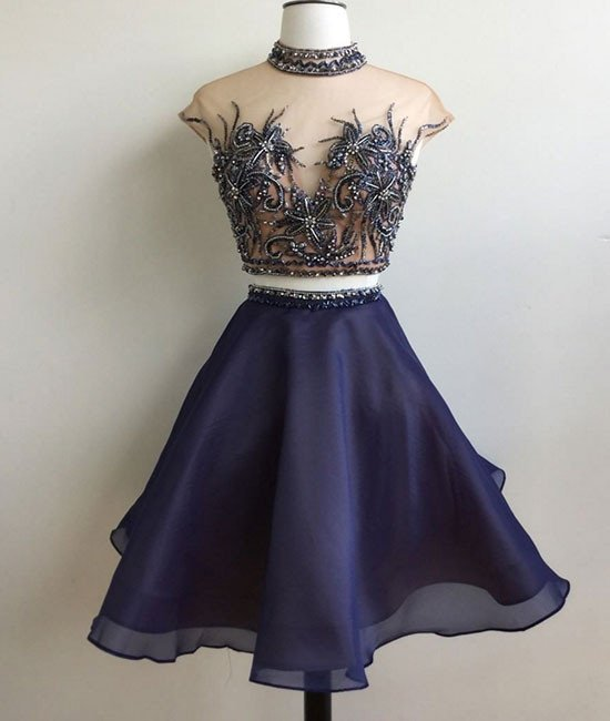 Elegant Prom Dress,Sexy Prom Dress,Cute Prom Gown, Party Dress,Prom Party Gown,Two Piece Prom Dress, Customize Made