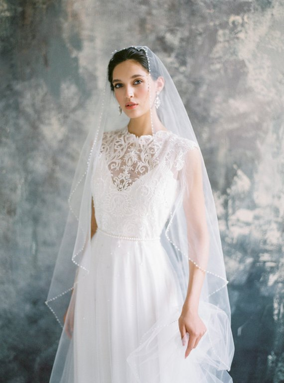Romantic Floral Lace Wedding Dress Made Of Natural Silk With Delicate Bust Line Flattering A Line Silhouette Exquisite Luxury Natural Silk