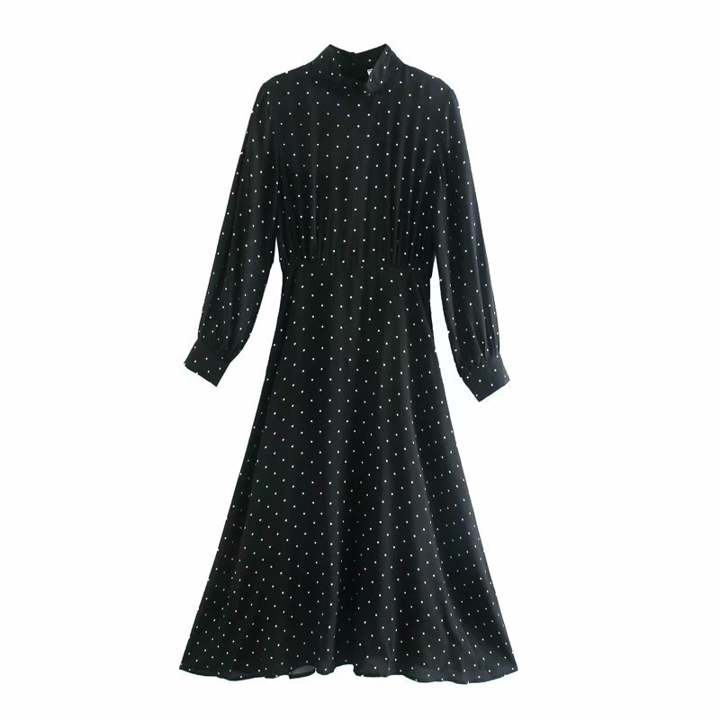 Autumn star Star cotton watermark floral long sleeve dresses