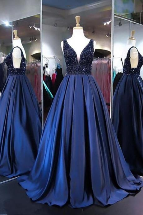 Prom Dress, To School beading Sweetheart sexy spaghetti Prom Dresses For Teens, Sweep Train Pageant Dress,backless Graduation sexy Party Dresses