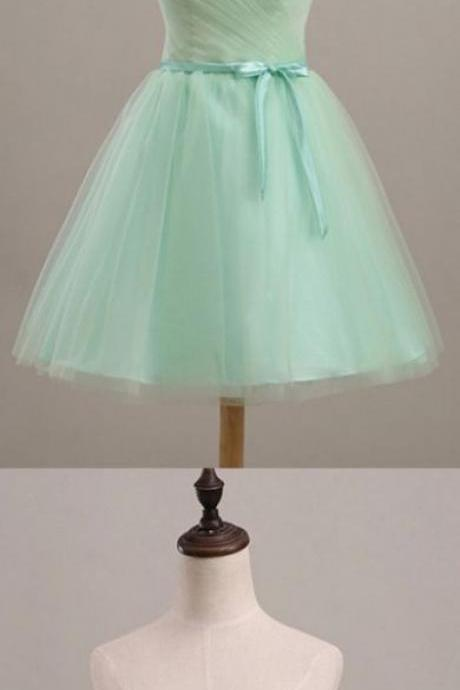 Short Mini Homecoming Dresses, Mint Mini Homecoming Dresses, Mini Short Homecoming Dresses, Simple Mint Strapless Lace Up Cute Elegant Homecoming Dresses , Customize Made ,2018 new fashion ,Prom Dress