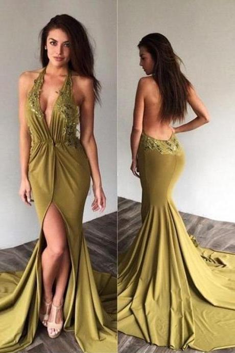 Chic Mermaid Prom Dress ,Modest Cheap Green, Long Prom Dress,Sexy Party Dress,Custom Made Evening Dress