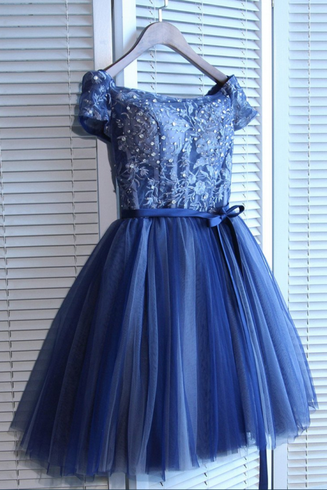 Off-the-shoulder ,Short/Mini Prom Dress, Juniors Homecoming Dresses,Sexy Party Dress,Custom Made Evening Dress