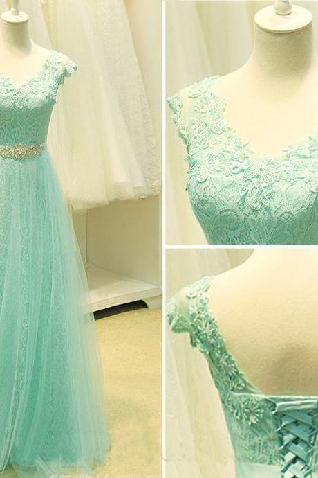 Lace prom dress,long prom dress ,Elegant Women dress,Party dress,beading dress, Custom Made