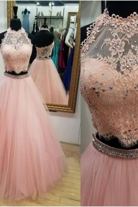 Prom Dresses Lace, Prom Dresses Two Piece, Prom Dresses Ball Gown , Formal Women Dress, Custom Made ,New Fashion