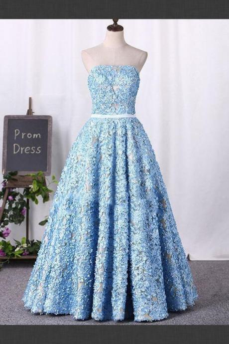 Prom Dresses 2018, Long Prom Dresses, Blue Prom Dresses, Prom Dresses A-Line,Floor Length , Customize Made ,2018 new fashion ,Prom Dress