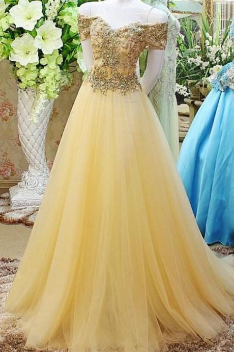 Beaded Prom Dress,Off The Shoulder Prom Dress,Illusion Prom Dress,Fashion Prom Dress,Sexy Party Dress, 2018 New Evening Dress