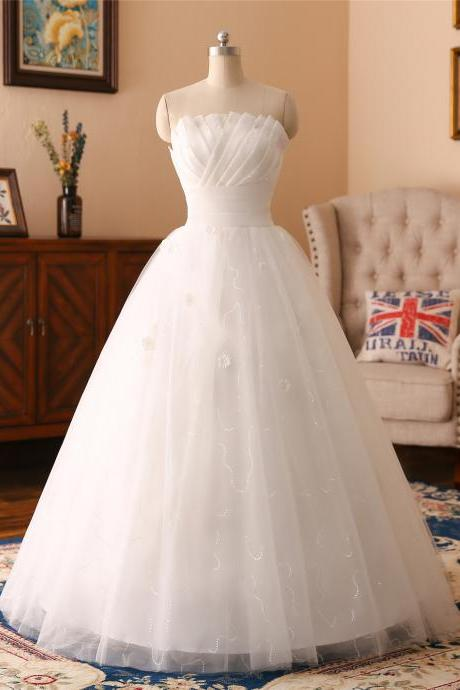 A-line lace beadings pleated Applique wedding dress ,sexy sweetheart neck wedding dress , Luxury beading sleeveless wedding dress, floor length bridal dress
