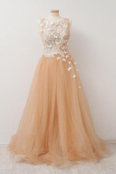 Charming A-Line Appliques Prom Dress,Long Prom Dresses,Cheap Prom Dresses,Evening Dress Prom Gowns, Formal Women Dress