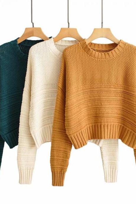 Wear a pullover sweater over a new loose thread sweater for women's 2020