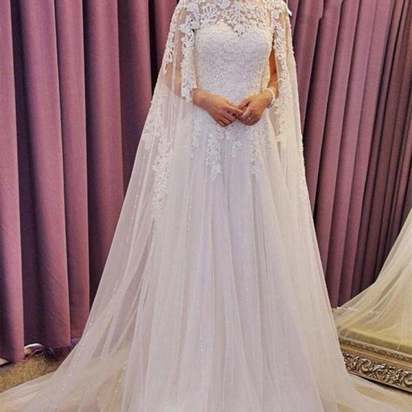 Charming A Line Applique Wedding Dress,Tull Wedding Dress,Elegant Wedding Dress,Wedding Dress for Bride,Cheap Bridal Gowns,Evening Dress ,Sexy Custom Made ,New Fashion