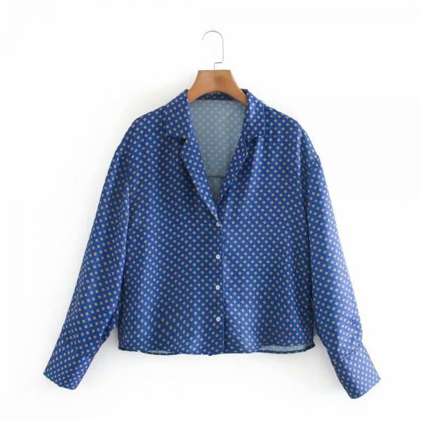 Blouse with small print